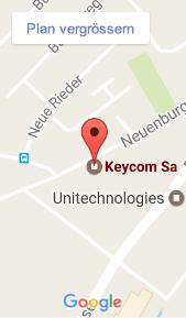 Keycom AG auf Google Maps